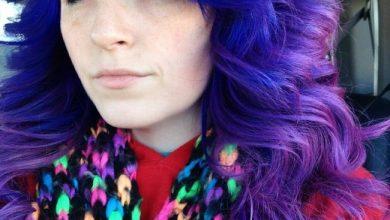 -مایل-به-آبی-390x220 10 رنگ موی زیبا مخصوص فصل پاییز برای خانمها آرایش مو خانه مد   وردنگار
