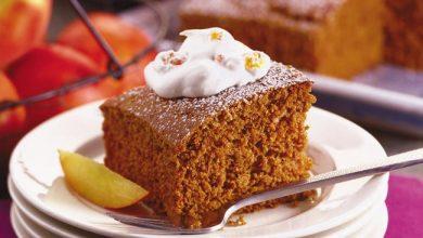 gingerbread-cake-with-peach-whipped-cream-390x220 کیک زنجبیلی با کرم هلو را اینگونه درست کنید آشپزی کیک ها   وردنگار