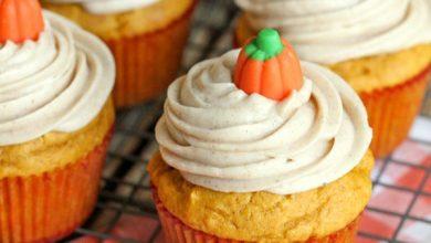 pumpkin-cupcakes-1-390x220 کاپ کیک کدو تنبل آشپزی کیک ها   وردنگار