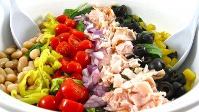 Skinny-Mediterranean-Salad-12-1-390x220 آموزش طرز تهیه سالاد لوبیا و سبزیجات + ارزش غذایی و میزان کالری آشپزی غذاهای گیاهی   وردنگار