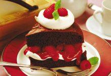 chocolate-raspberry-cake-220x150 طرز تهیه کیک شکلاتی تیره آشپزی کیک ها   وردنگار