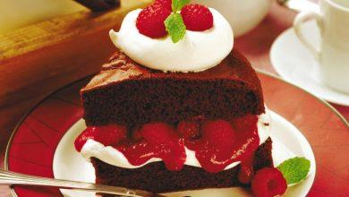 chocolate-raspberry-cake-390x220 طرز تهیه کیک شکلاتی تیره آشپزی کیک ها   وردنگار