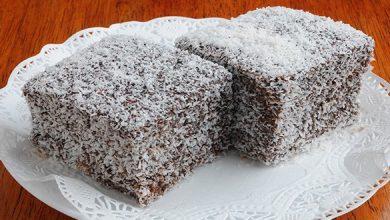 lamington-cake-390x220 طرز تهیه کیک لامینگتون آشپزی کیک ها   وردنگار