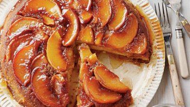 peach-upside-down-cake-sl-x-390x220 کیک هلو: طرز تهیه کیک هلو آشپزی کیک ها   وردنگار