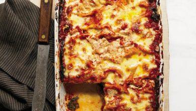 swiss-chard-eggplant-and-mushroom-lasagna-390x220 لازانیای سبزیجات به سبک ایتالیایی آشپزی شام   وردنگار