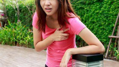 woman-outside-with-pain-in-her-chest-feeling-faint-and-dizzy-short-of-breath-390x220 سندرم تاکی کاردی عضلانی : علائم، علل و درمان سلامت مطالب سلامت   وردنگار